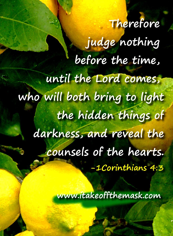 Bible Quotes About Judgement Quotesgram