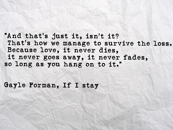 If I Stay Book Quotes. QuotesGram