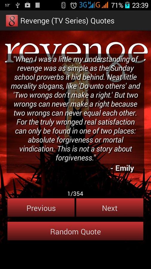 Show revenge quotes