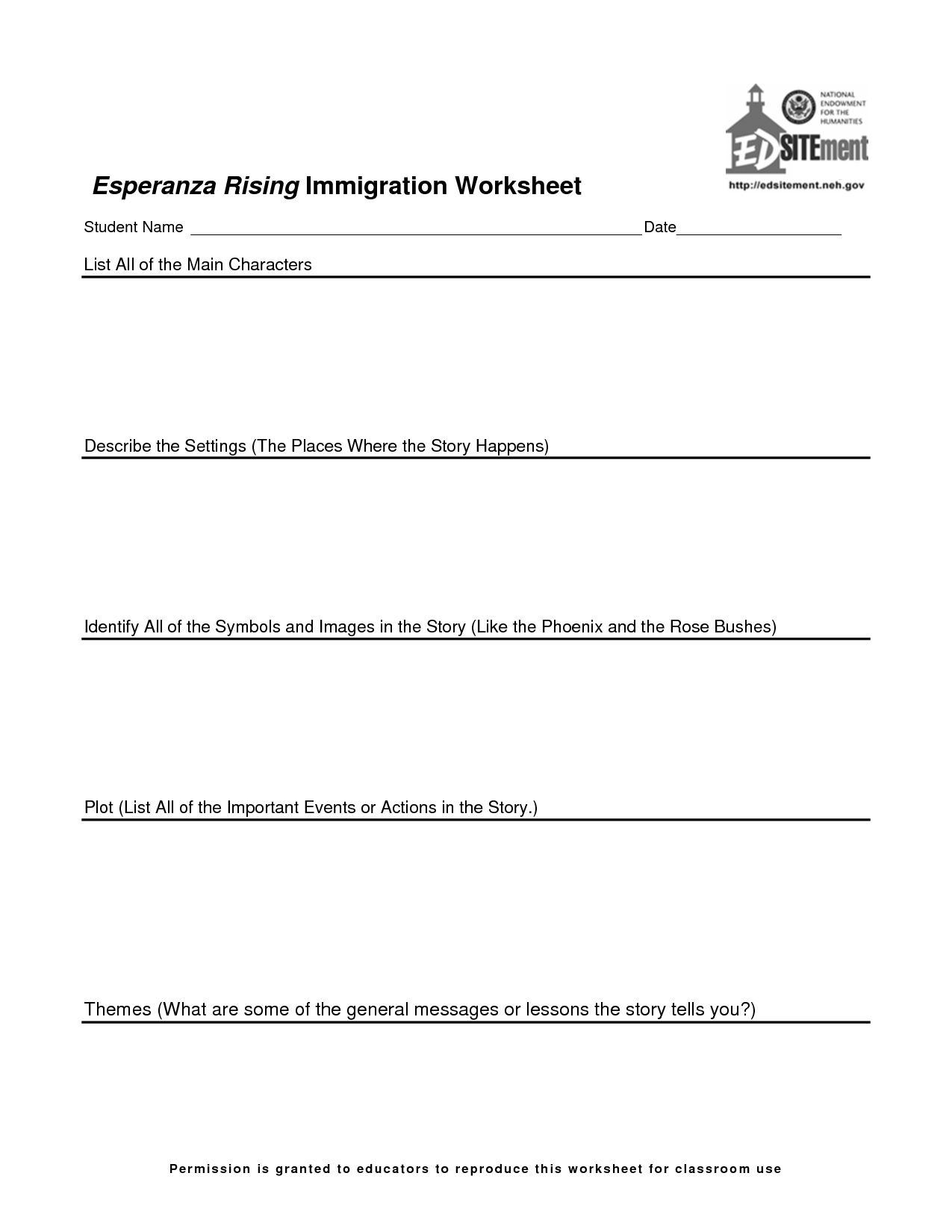 rising worksheets  esperanza rising worksheets