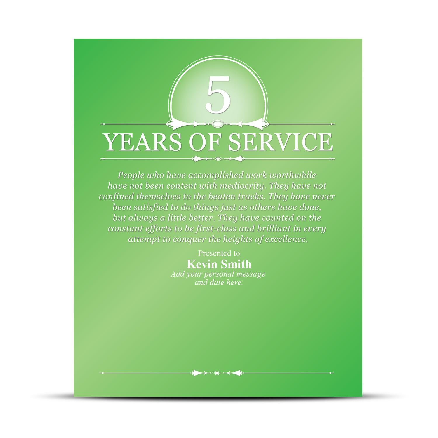 years of service award quotes  quotesgram