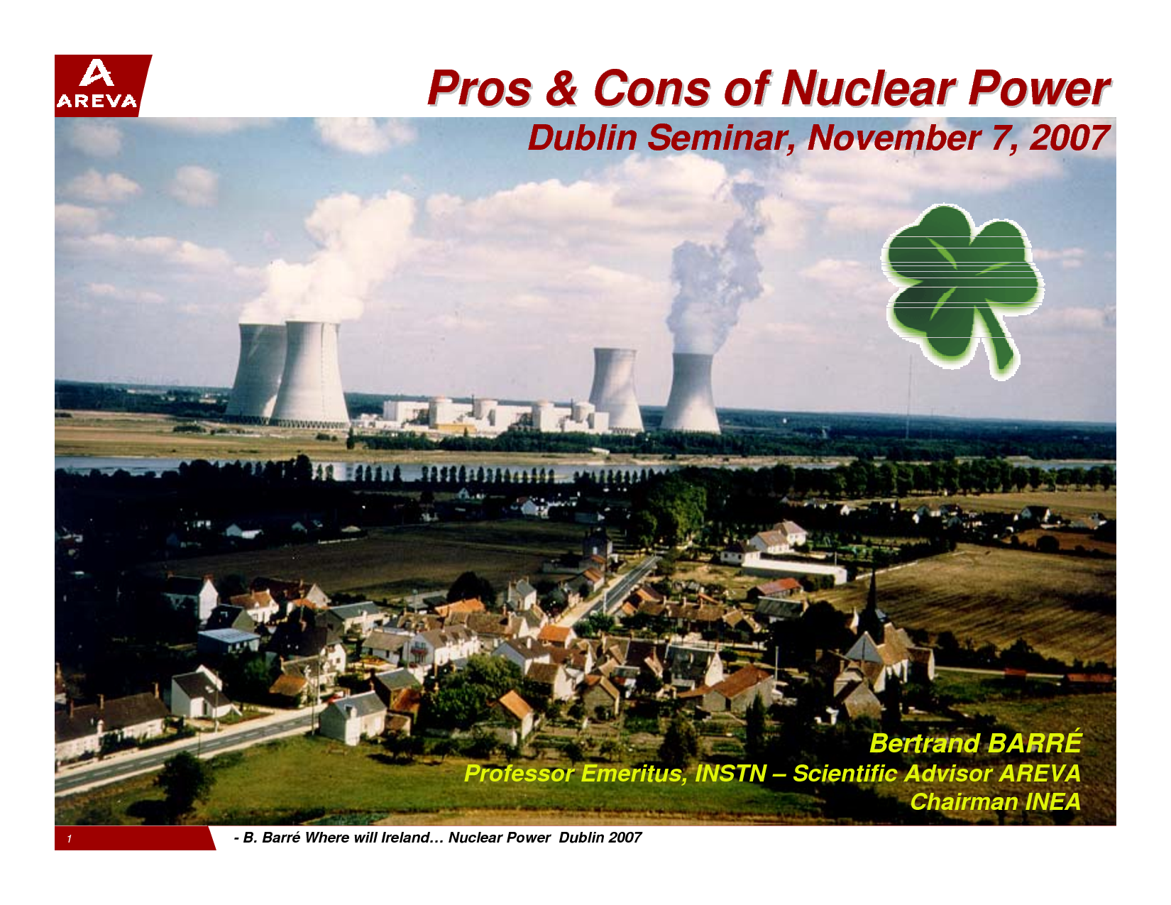 pro nuclear power The major effects, advantages and disadvantages of nuclear power phase-out pros and cons.