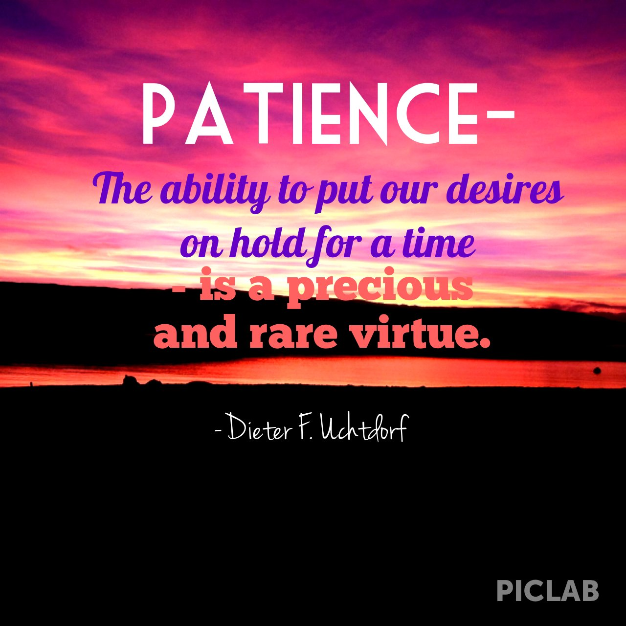 Persistence Motivational Quotes: Lds Patience Quotes. QuotesGram