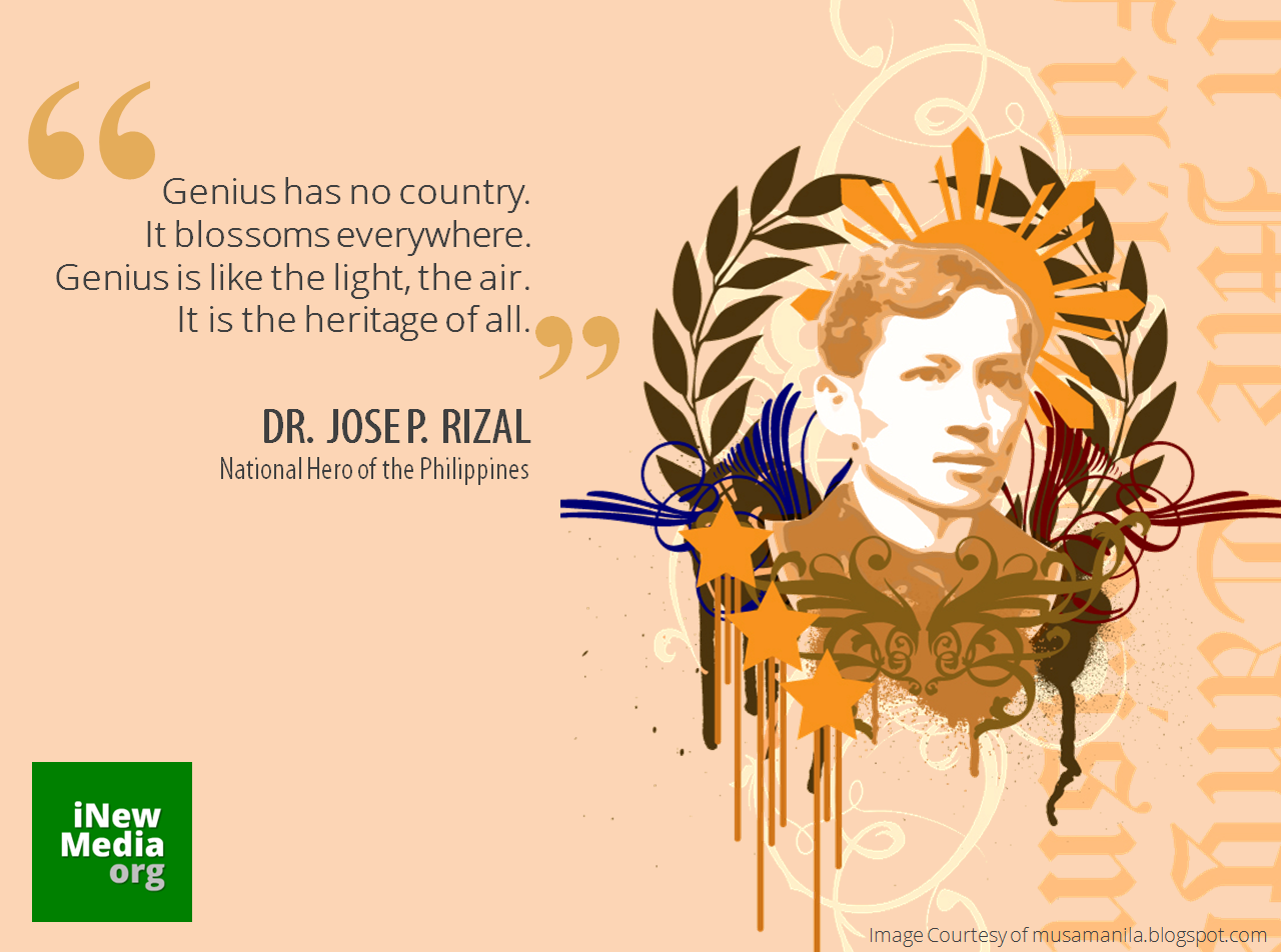 rizal as an inspiration Why falls so rich a spray of fragrance from the bowers of the balmy flowers upon this festive day why from woods and vales do we hear sweet measures ringing that seem to be the singing of a choir of nightingales.