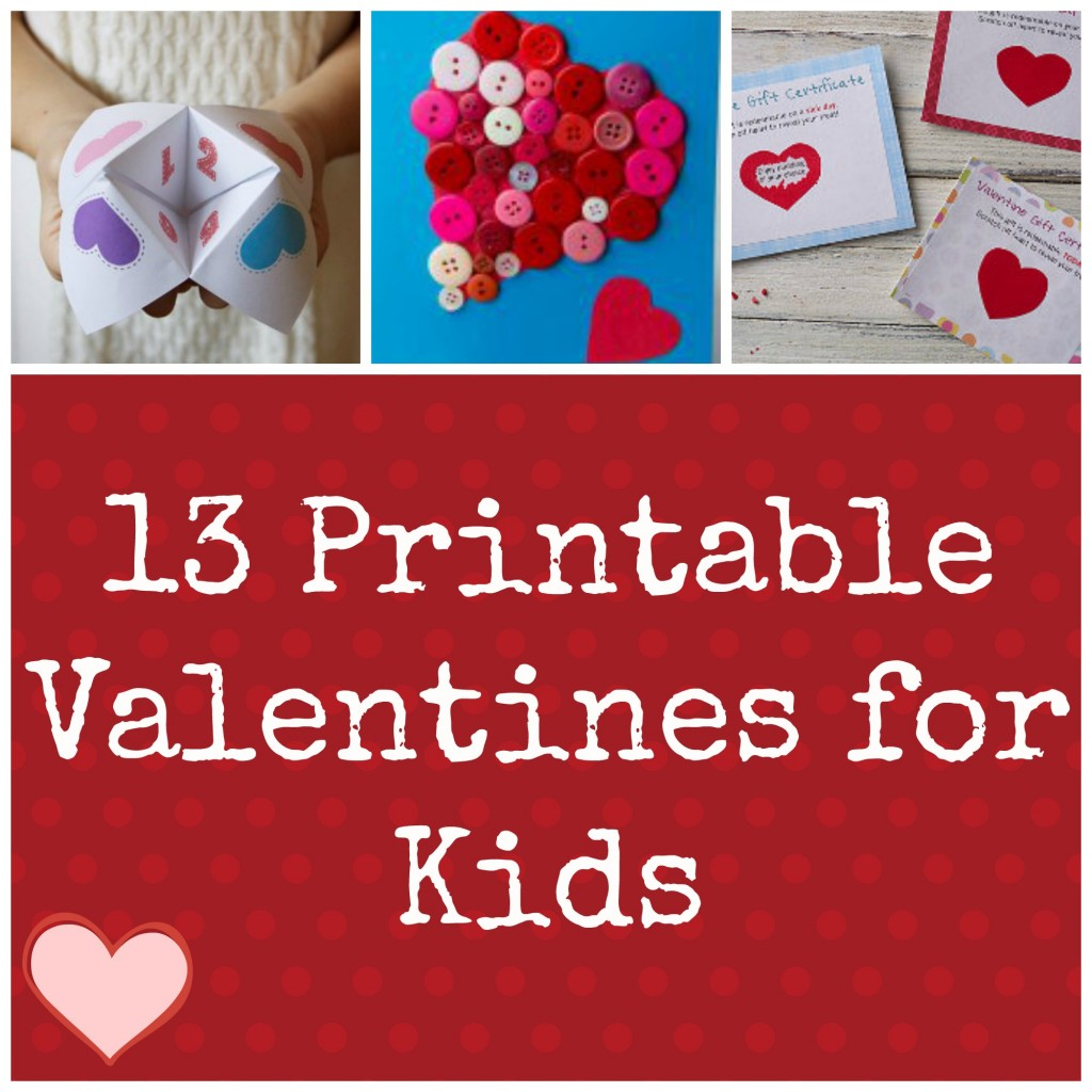 It's just a picture of Magic Printable Childrens Valentines Cards