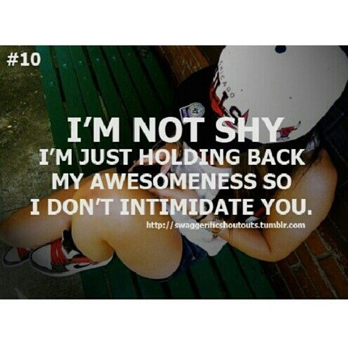 Funny Quotes About Being Shy: Shy Quotes For Teenage Girls. QuotesGram