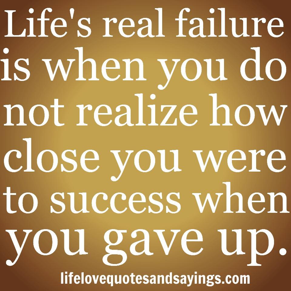Quotes About Failure Leading To Success: Love Failure Quotes. QuotesGram