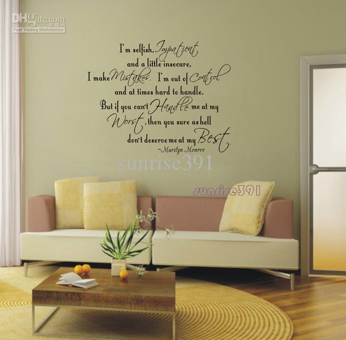 Living room wall art quotes quotesgram for Bedroom inspiration quotes