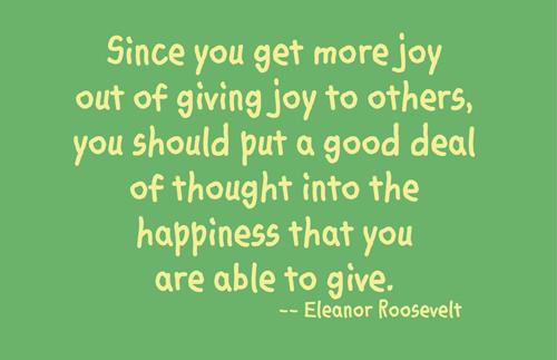 Joy In Giving