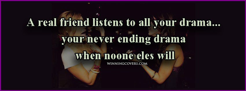 Friendship Lines On Fb : Real friend quotes for facebook quotesgram