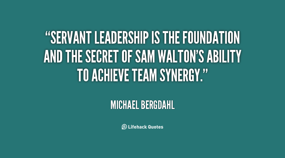 good leadership and the servant leader It was in that essay that he coined the words servant-leader and servant leadership this story clearly says—the great leader is seen as servant first.