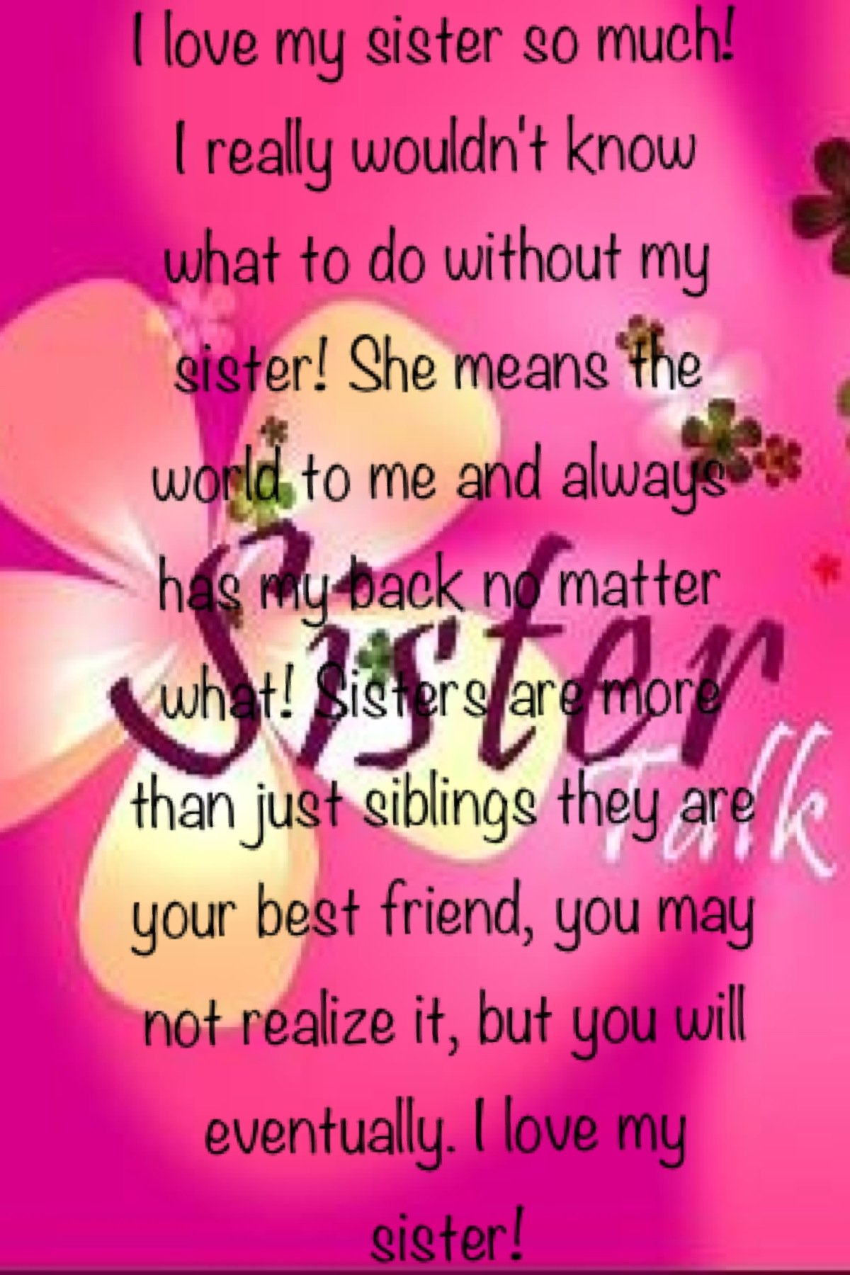 Love Finds You Quote: Fb Sister Quotes. QuotesGram