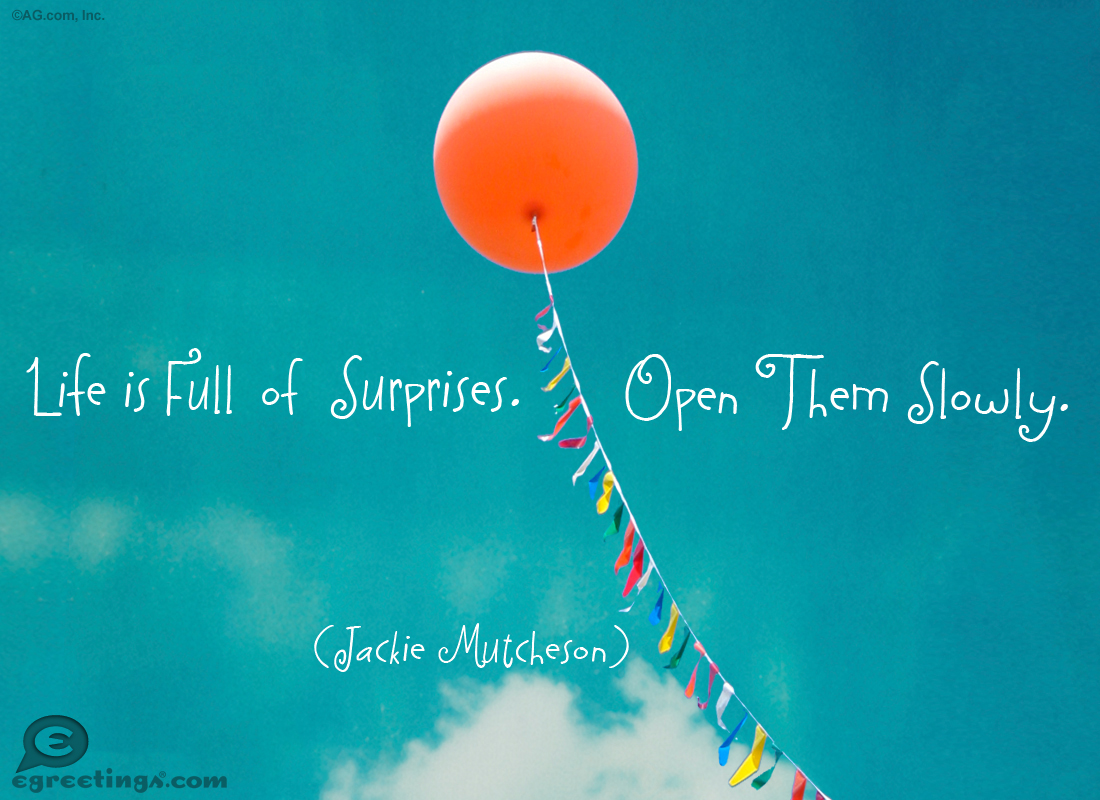 Life Is Full Of Surprises Quotes. QuotesGram