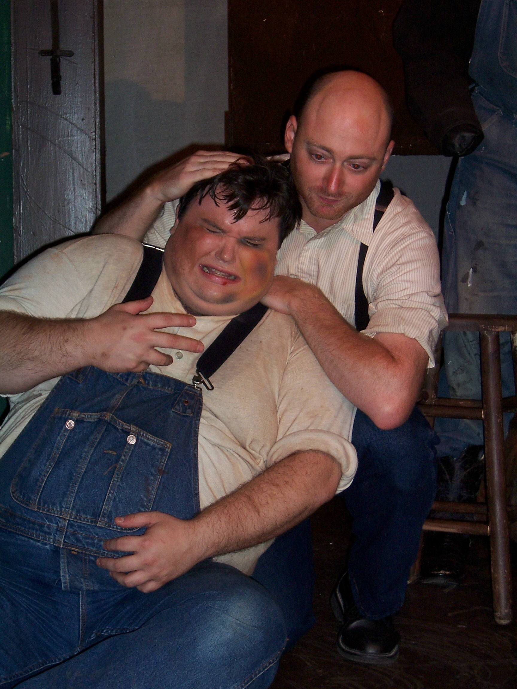 gorge and lennie Lennie - a large, lumbering, childlike migrant worker due to his mild mental disability, lennie completely depends upon george, his friend and traveling companion, for guidance and.