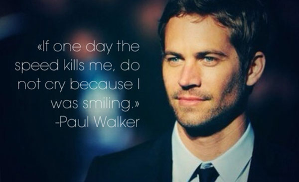 Paul Walker S Best Quote: Speed Kills Football Quotes. QuotesGram