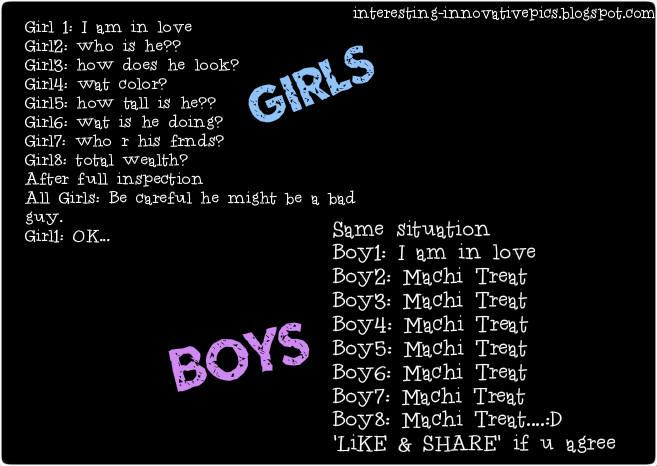 Boys Vs Girls Funny Quotes. QuotesGram