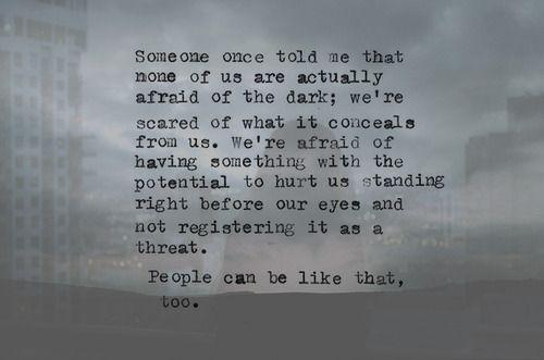 Scared Of Me Quotes. QuotesGram