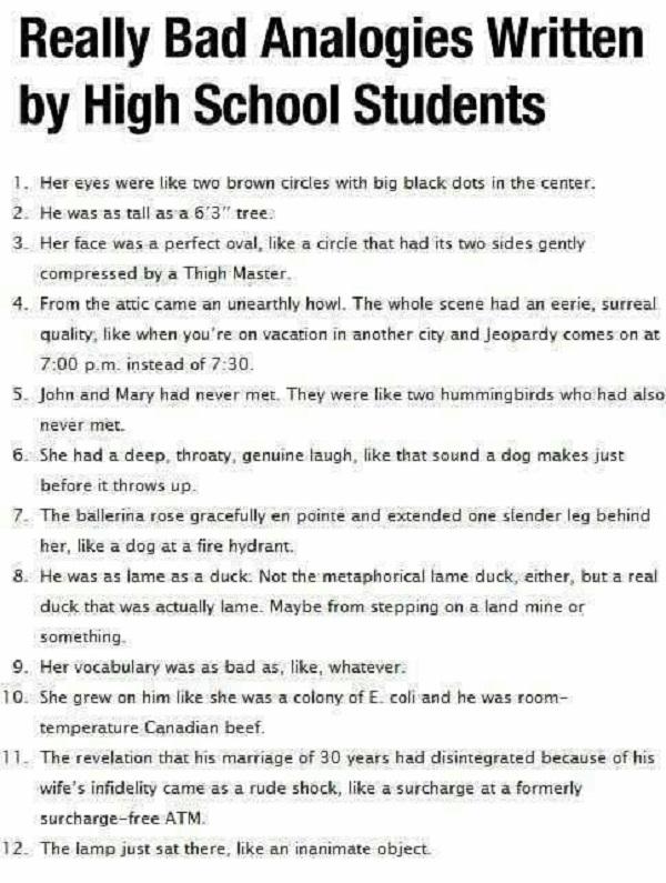 bad college essay examples