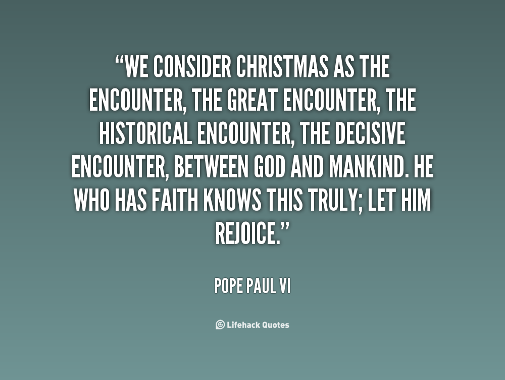 Pope Quotes About Christmas. QuotesGram