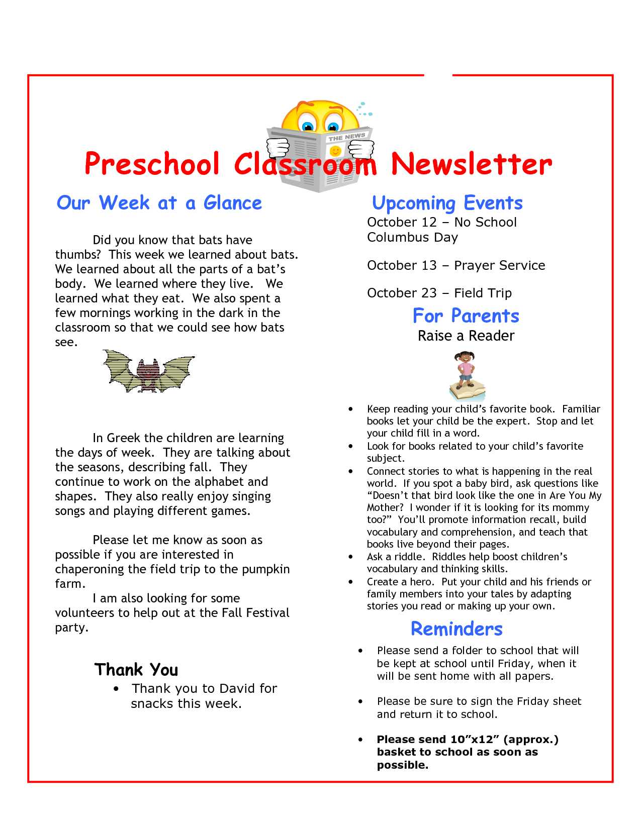 preschool newsletter quotes quotesgram. Black Bedroom Furniture Sets. Home Design Ideas