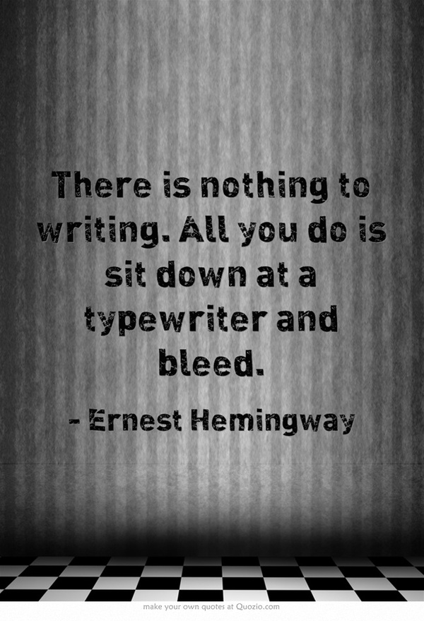 "ernest hemingway writing ""as a writer you should not judge you should understand,"" ernest hemingway (july 21, 1899–july 2, 1961) counseled in his 1935 esquire compendium of writing."