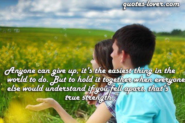 Trying To Hold It Together Quotes. QuotesGram