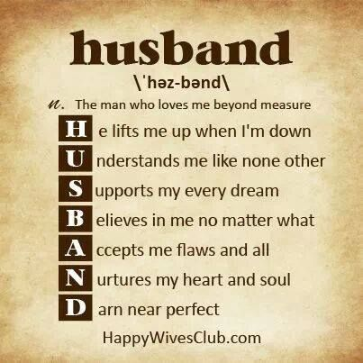 Husband for uplifting words Words of