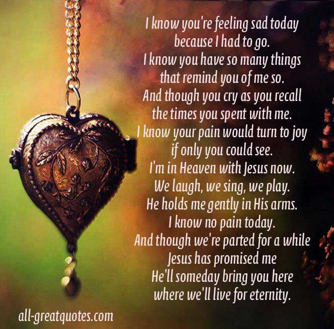 Sad I Miss You Quotes For Friends: Quotes In Loving Memory Poem. QuotesGram