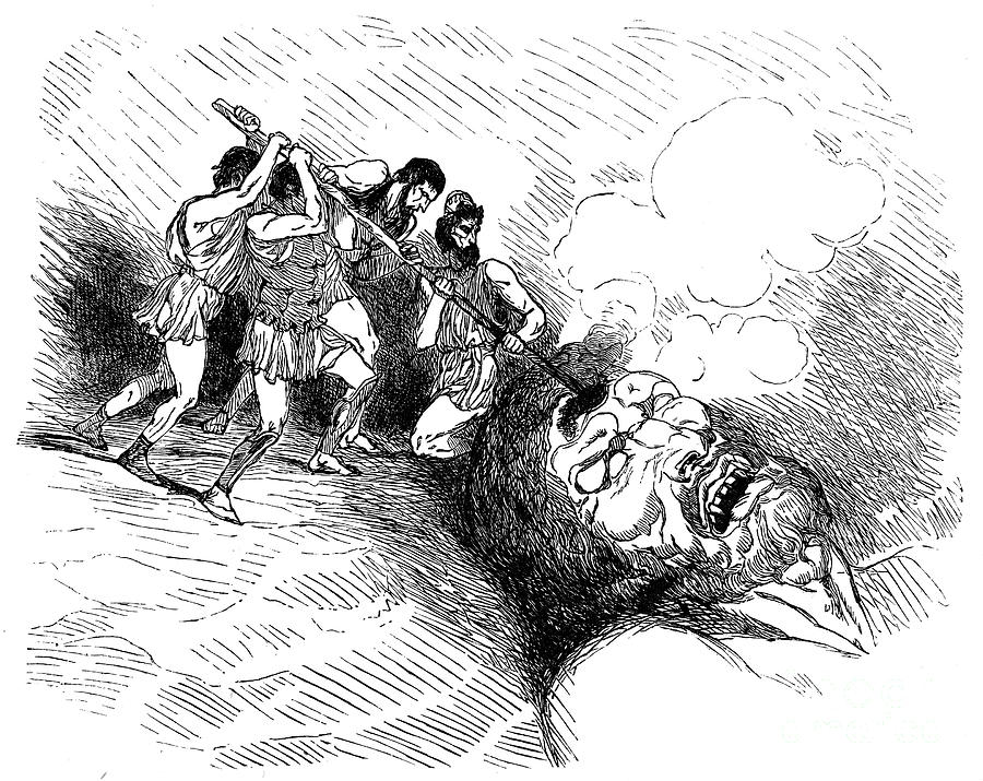 Иллюстрации к поэме гомера одиссея циклоп ландшафт