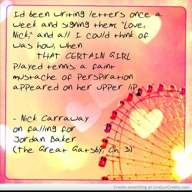 jordan baker and nick caraway relationship counseling