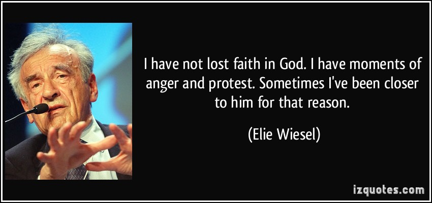 the lose of faith in god in the book night by elie wiesel Elie wiesel's experiences many victimizing harassment, but even so chooses to disregard it and place all of his faith in god throughout life during the holocaust, elie wiesel begins to experience and perceive more and more occurrences that make him start to lose faith.
