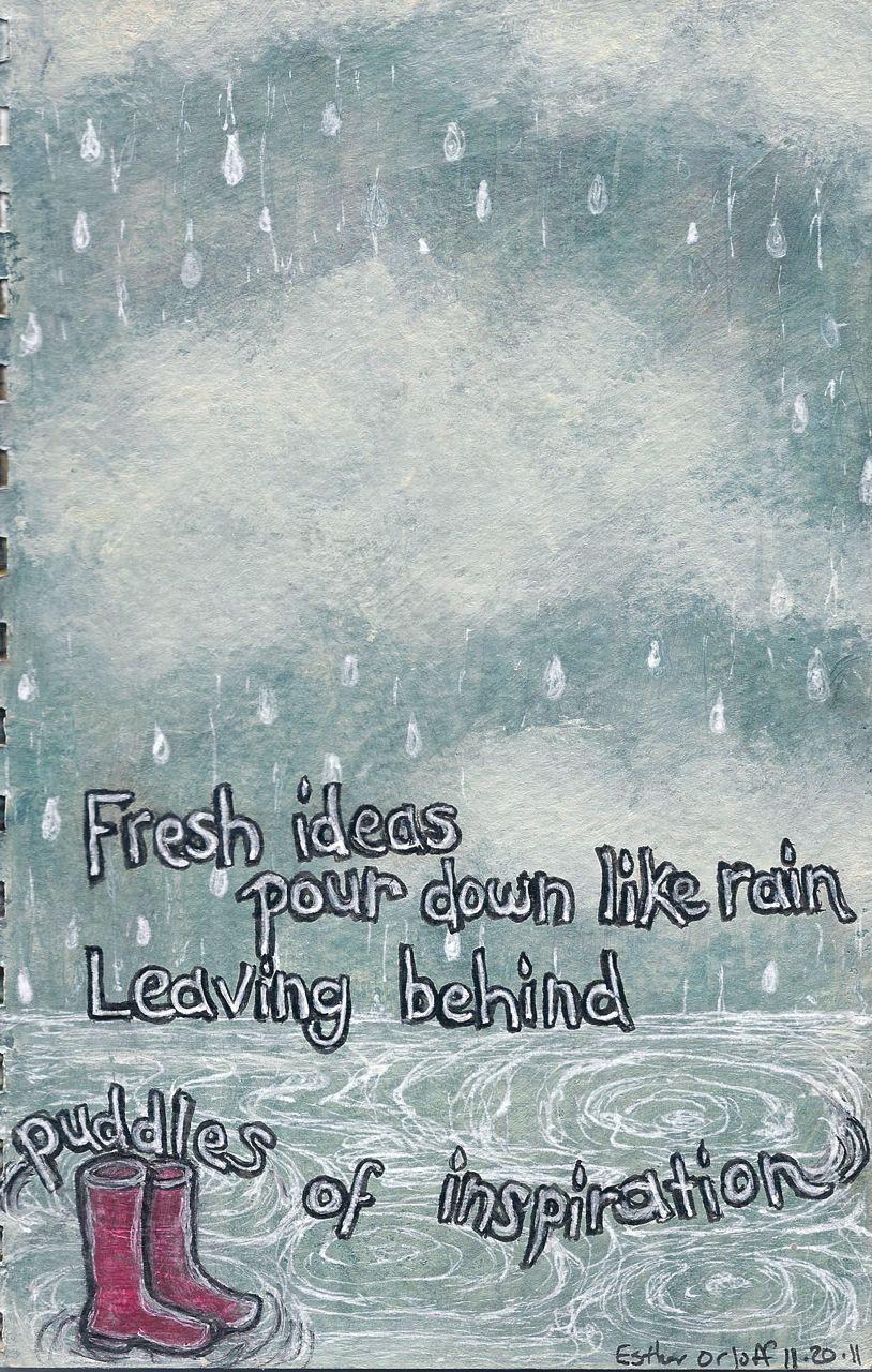 Quotes Of Inspiration Rain Puddles Qu...