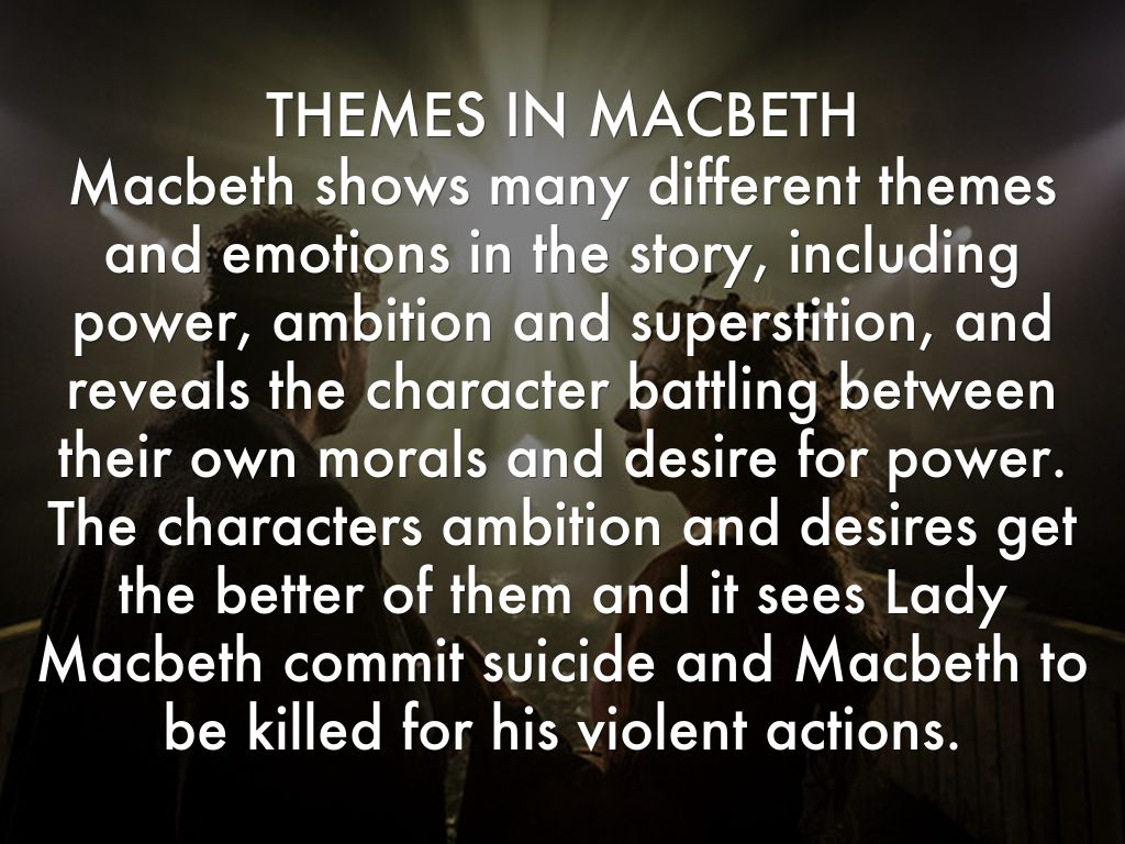 Theme of macbeth