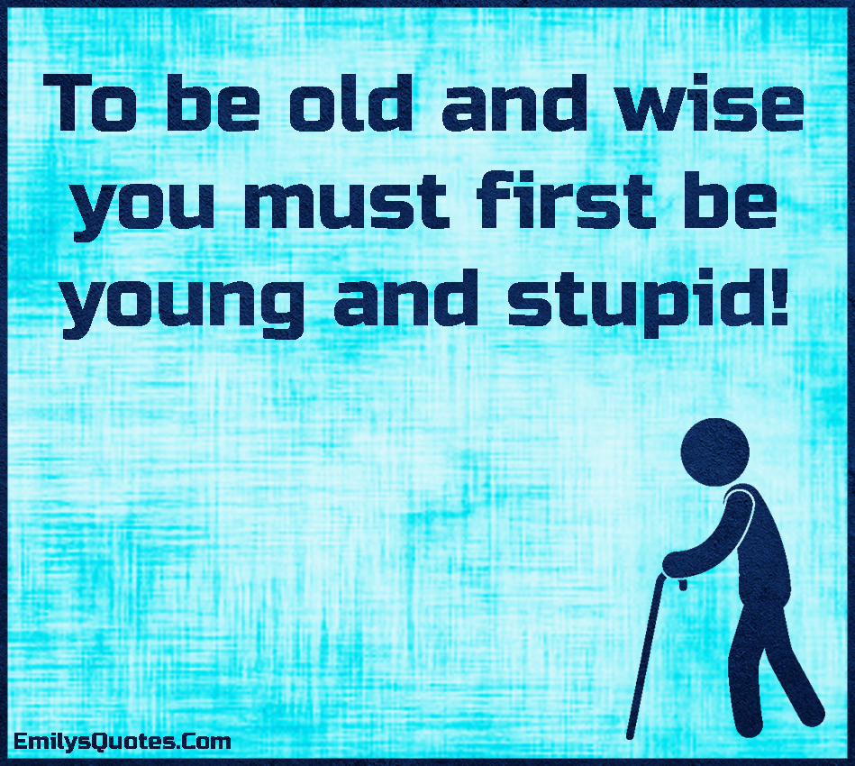 Stupid Quotes: Young And Stupid Quotes. QuotesGram