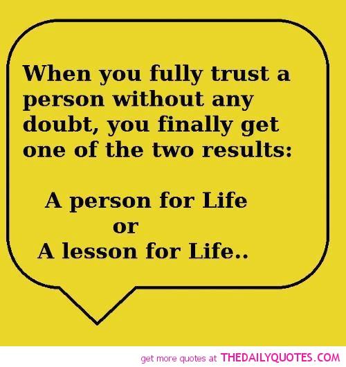 Life Trust Quotes: Famous Quotes About Trust. QuotesGram