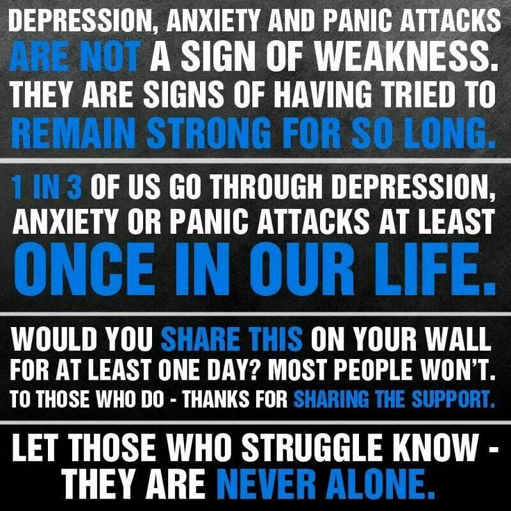 Anxiety and of signs depression Warning Signs