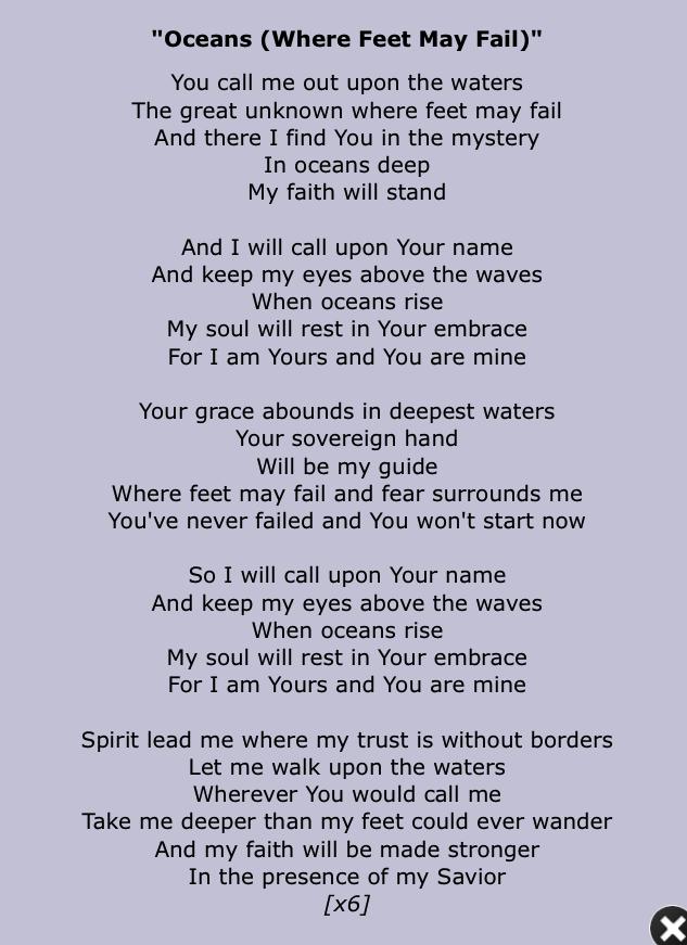 Ocean Song Lyrics Quotes Quotesgram