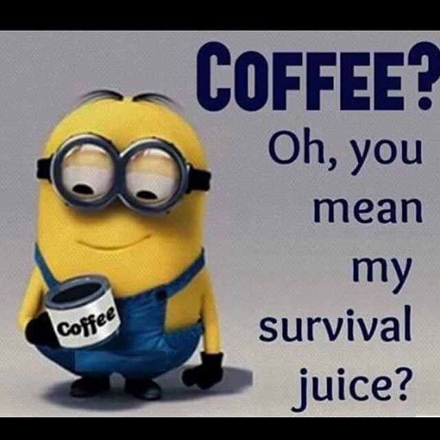 Minion Quotes About Homework. QuotesGram Wednesday Coffee Quotes