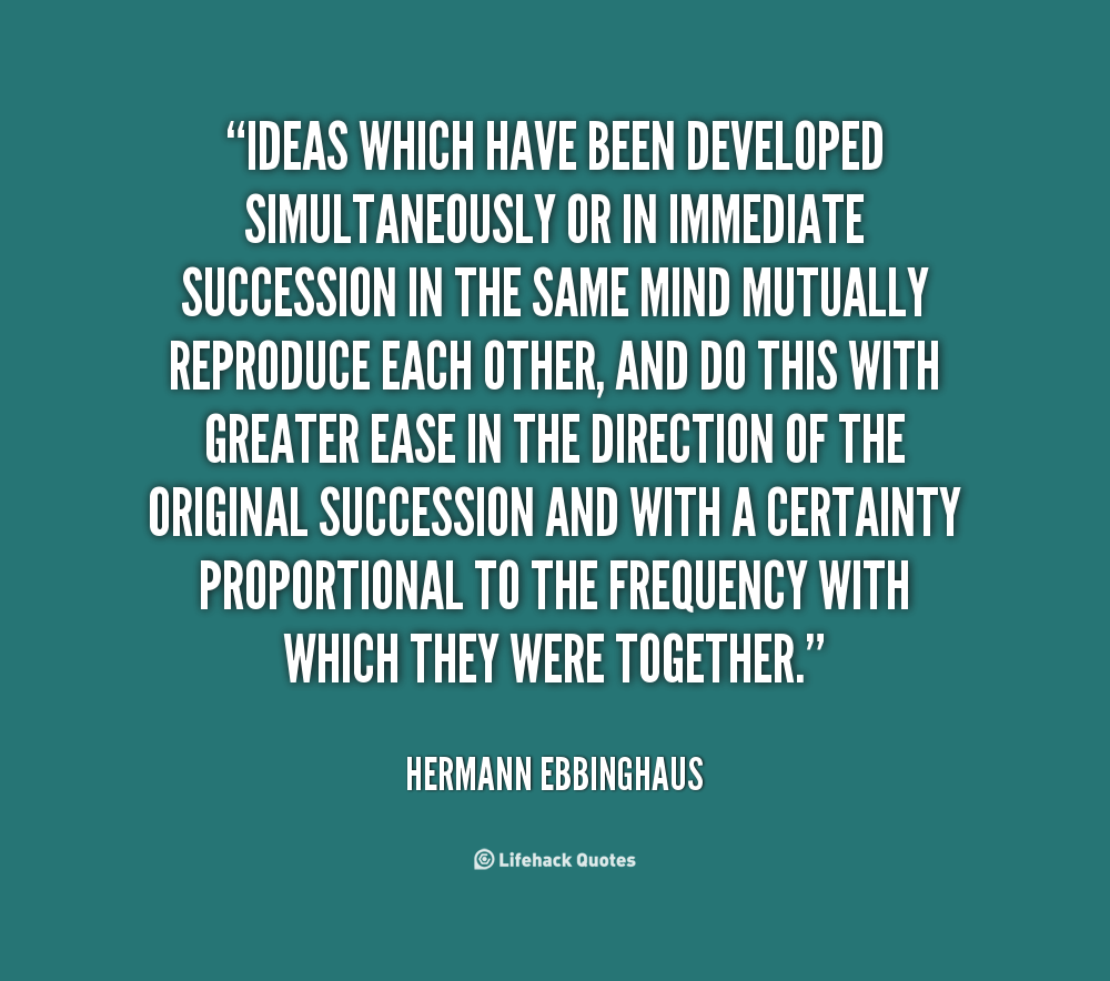 hermann ebbinghaus Hermann ebbinghaus pioneered the experimental study of memory, first identified the spacing effect phenomenon and developed the ebbinghaus forgetting curve.