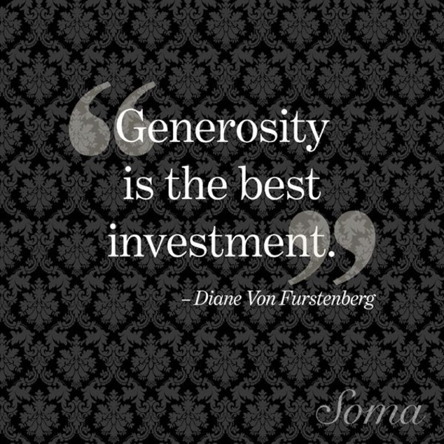 Inspirational Quotes About Positive: Inspirational Quotes About Generosity. QuotesGram