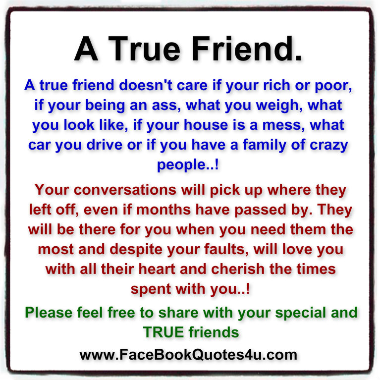 Facebook Quotes And Saying: True Friend Quotes For Facebook. QuotesGram