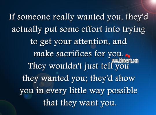 Putting Effort Into Someone Quotes. QuotesGram