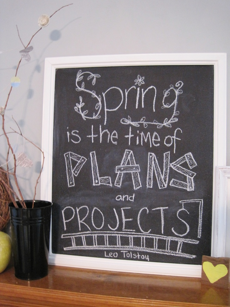 spring chalkboard quotes  quotesgram