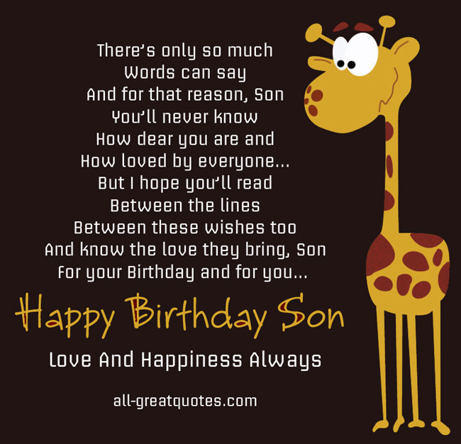 Happy Birthday To My Son Images And Quotes: Happy 22 Birthday Son Quotes. QuotesGram