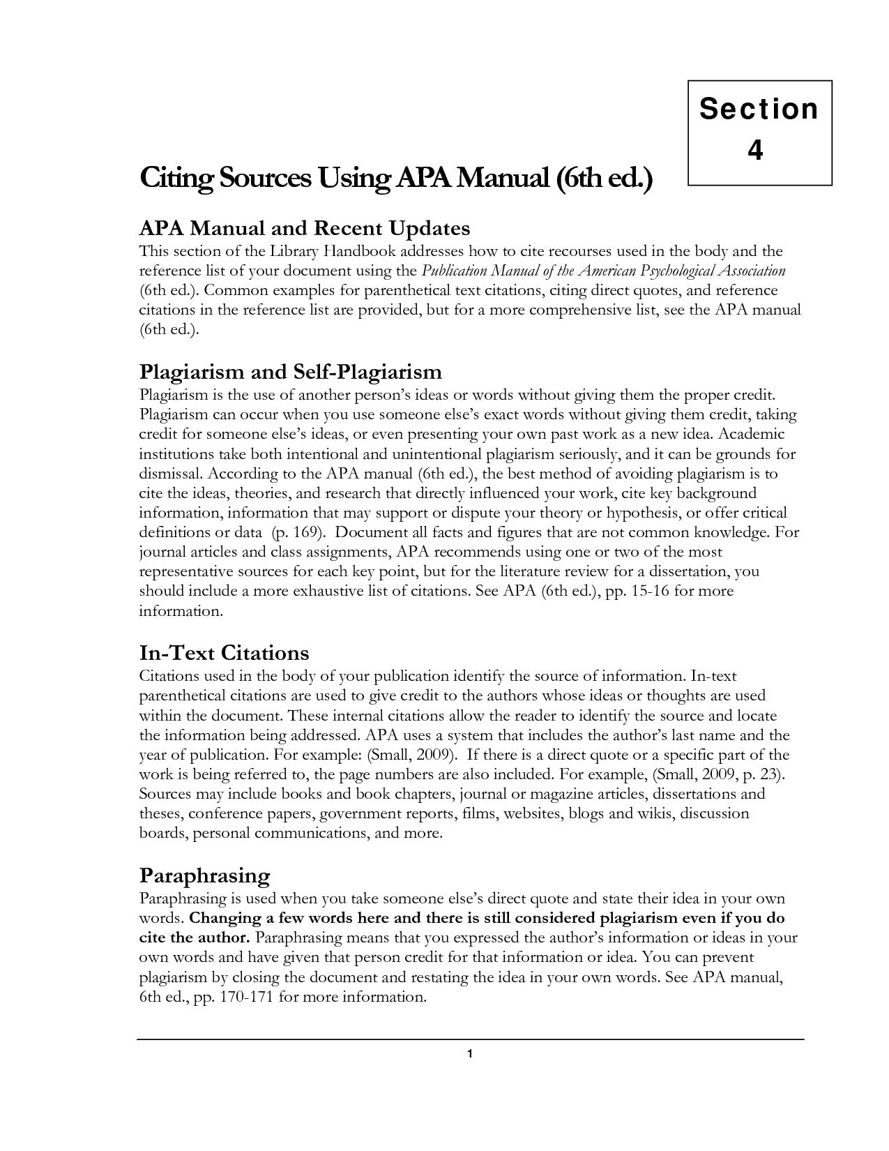 block quotes apa 6th edition  quotesgram