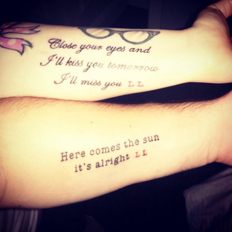 Tattoo Quotes Marriage: Husband And Wife Tattoo Quotes. QuotesGram