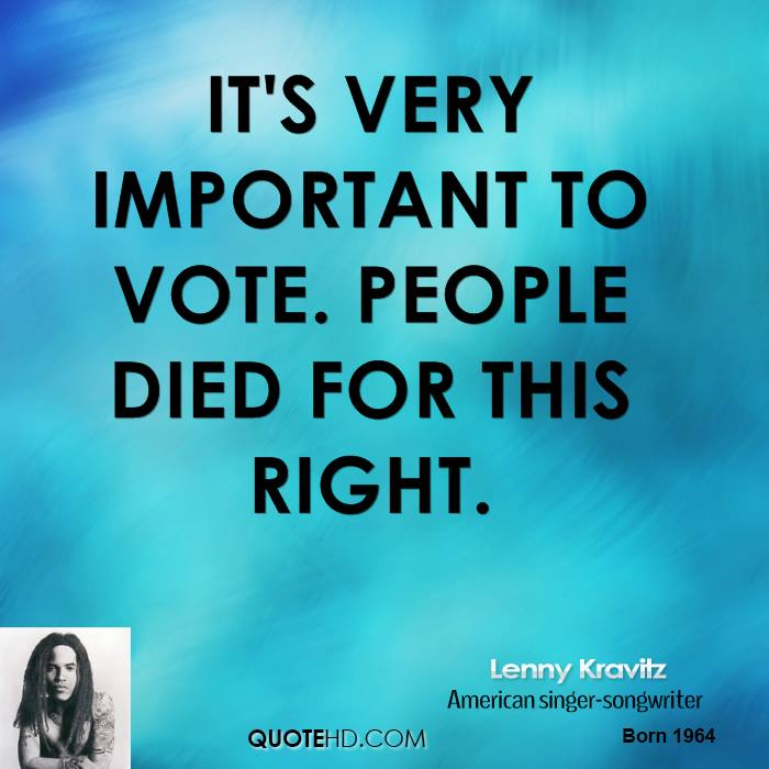 Importance Of Voting Quotes Quotesgram