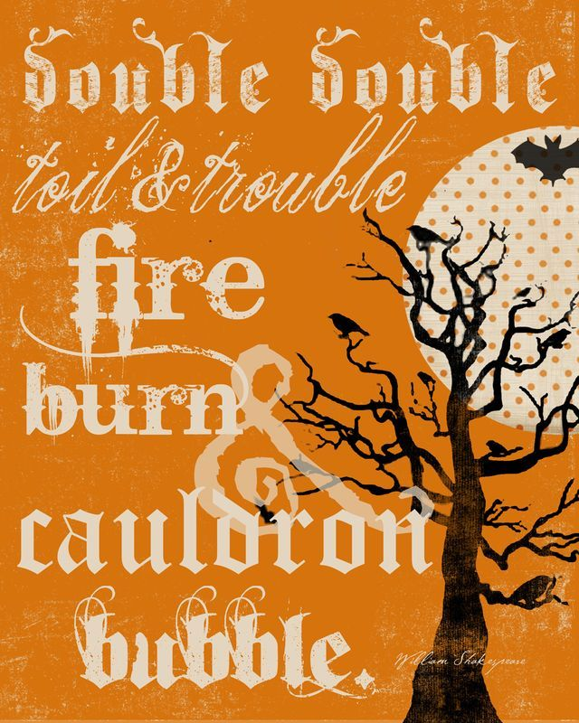 Shakespeare Halloween Quotes: Macbeth Witches Quotes Double Double. QuotesGram