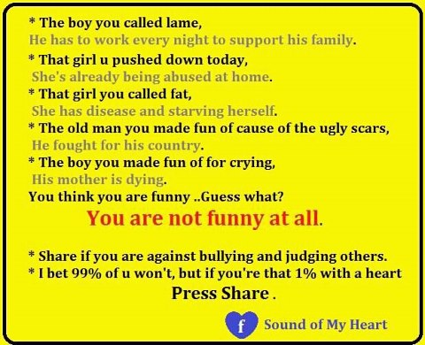Inspirational Quotes On Bullying Quotesgram