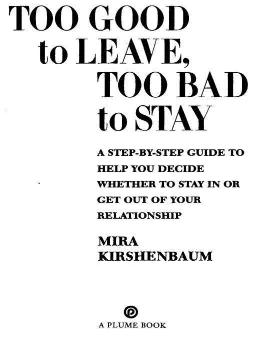 too good to leave too bad to stay book pdf